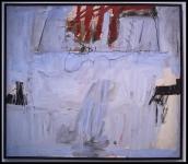Antoni Tàpies Blau amb quatre barres roges (Blue with Four Red Stripes)1966
