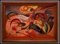 André Masson Les Coqs (Les Coqs rouges) (Los gallos [Los gallos rojos])1935