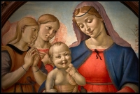 Attributed to Piero di Cosimo Madonna and Child with Angels 1500-1510