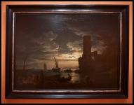 Claude-Joseph Vernet Night: Mediterranean Coast Scene with Fishermen and Boats 1753