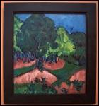 Ernst Ludwig Kirchner Landscape with Chestnut Tree 1913