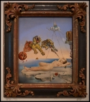 Salvador Dalí Dream caused by the Flight of a Bee around a Pomegranate a Second before Wakening up 1944