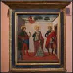 Francesco Botticini Saint Cecilia between Saint Valerian and Saint Tiburtius with a Donor ca.1470