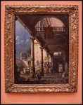 Canaletto Capriccio with Colonnade in the Interior of a Palace ca. 1765