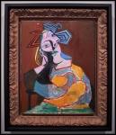 Pablo Picasso (Pablo Ruiz Picasso) Femme assise accoudée (Mujer sentada acodada)1939 (8 de enero)