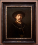 Harmensz. van Rijn Rembrandt Self-portrait wearing a Hat and two Chains ca. 1642-1643